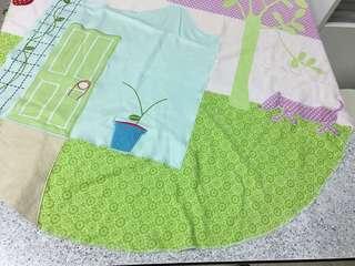 立體車花圖案拼貼 針織棉枱布/坐地墊/坐墊(圓形)