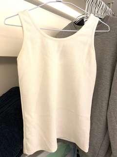 🚚 白色美背造型背心