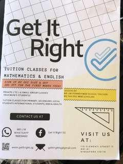Mathematics and English