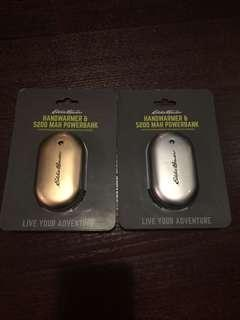 eddie bauer hand warmer and 5200 mah powerbank