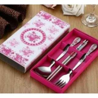 Spoon Fork And Chopsticks Gift Set
