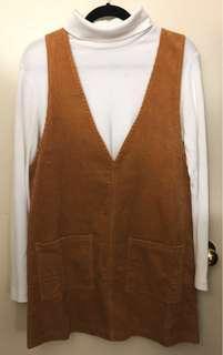 [F21] Overall Corduroy Skirt