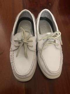 Authentic Sperry Women's White Boat Shoes