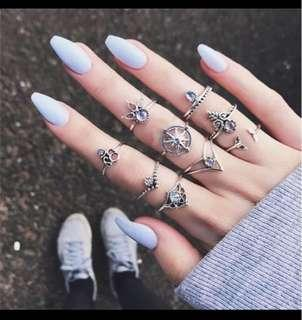 Mid finger rings