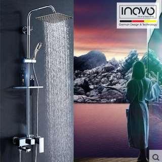 INOVO® Milano Rain Shower, rainshower, shower set and basin tap faucet plumbing, interior designer/ toilet accessories / towel rack / corner rack / shampoo rack / mixer tap / plumber / faucet, basin tap