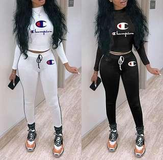 Champion two piece set (Black)