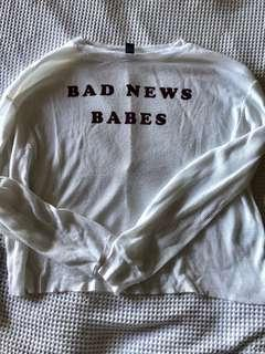 Forever 21 Bad news babes top
