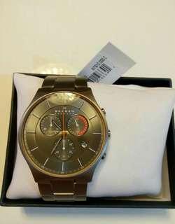 【鈦】時尚三眼計時腕錶SKW6076