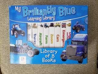 Library of 8 books - My Brilliantly Blue Learning Library