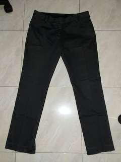 The Executive Celana Kerja Pants Suede Abu