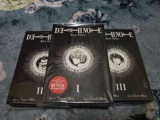 Death Note Black Edition 1-3 Manga