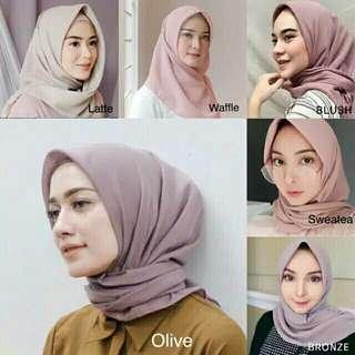 Hijab square polycotton (double hycon)