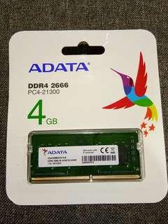 ADATA 4GB DDR4 FASTEST 2666MHz Laptop RAM