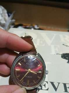 Poljot Vintage watch reddish dial