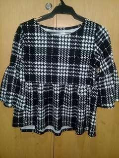 Black checkered top