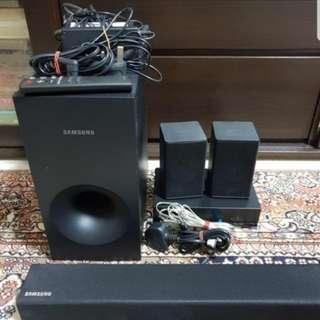 Samsung Soundbar + Subwoofer + Rear Speakers