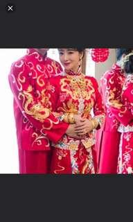 Chinese traditional wedding clothes