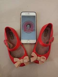 Mini melissa ultragirl bow red size US 8