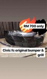 Civic fc ori front bumper and grill