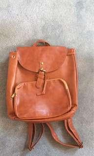 BN Tanned Faux Leather Bagpack