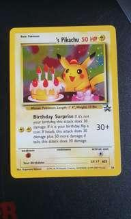 Birthday Pikachu Black Star Promo Vintage Pokemon Card