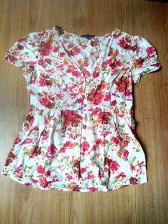 Korz Floral Blouse /Top