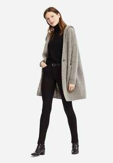 Uniqlo WOMEN Melange Wool Hooded Knitted Coat