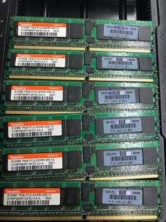 🚚 HYNIX 海克力 512MB 1rx8 記憶體 PC2-3200r-333-12 (庫存6!