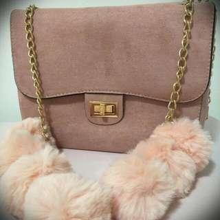 Pink Pom Pom Bag