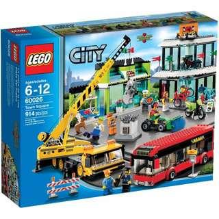 Exclusive City Town Square 60026 Lego Retired Set