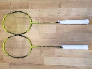 2 Yonex Nanoray Z Speed Badminton Rackets