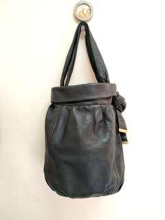 Black Genuine Leather Tote Bag