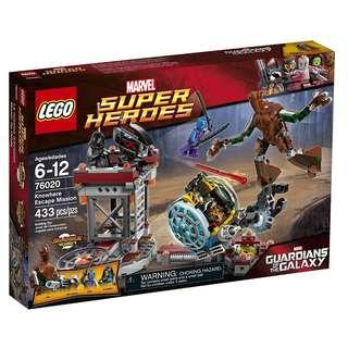 Groot Rocket Raccoon LEGO SuperHeroes 76020 - Knowhere Escape Mission