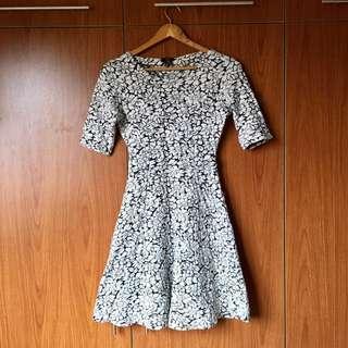 F&F Black and White A-Line Dress (34)