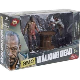 Mcfarlane The Walking Dead Morgan with Impaled Walker and Spike Trap Deluxe Box