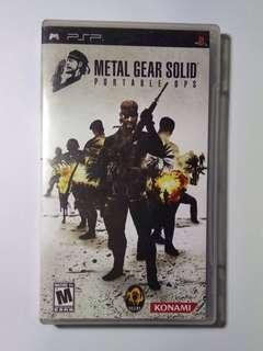 PSP Game DISK METAL GEAR SOLID PORTABLE GPS KONAMI ACTION
