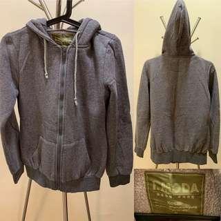 Grey hoodie jacket