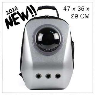 """""""Silver"""" Upsize Cat Bubble Backpack Carrier"""