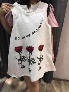 Top putih, bisa dijadikan dress juga