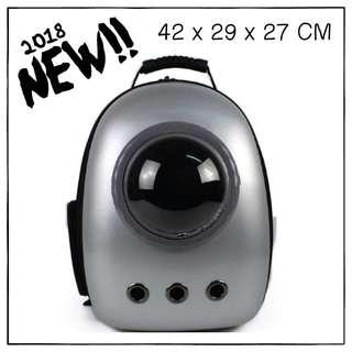 """""""Silver"""" Upgraded Astronaut Capsule Cat Bubble Backpack Carrier"""