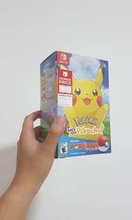 Pokemon Lets Go Pikachu wih Pokeball