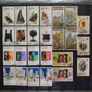 英殖時期香港郵票(蓋印)