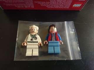 lego back to the future marty and doc人仔兩隻