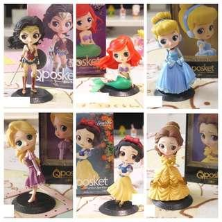 Qposket Character Disney Princess Figurines