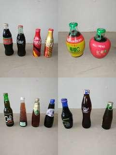 13 x various collectable drink bottles for 1 low price with free delivery