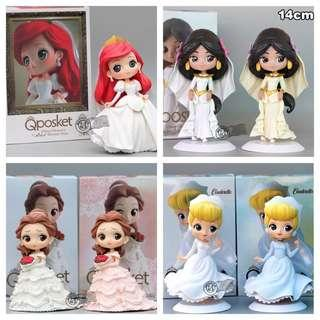 Qposket Dreamy Wedding Disney Princess Figurines