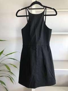 Princess Polly Black Backless Mini Dress