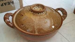 Large clay pot
