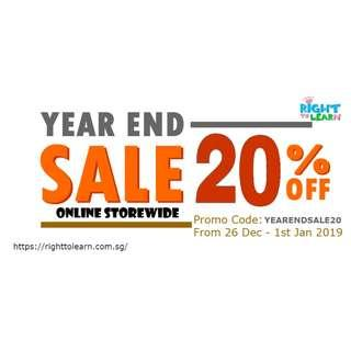 Year End Sale 20% Off Storewide