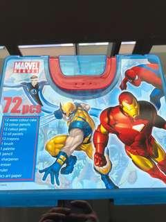 Marvel Heroes colouring set (50 pieces)